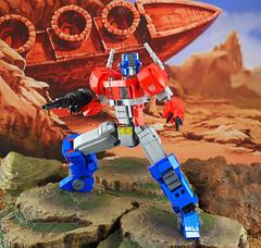"Lego FA-04 ""Optimus Prime"" (guitar hero78) Tags: lego legomech legomoc afol actionfigure optimus prime moc mech mecha toys toyphotography transformers fujifilm fujinon xf60mm xe1"