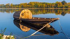 Barque sur la Loire (Chrisar) Tags: angénieux3570 nikond750 rivière