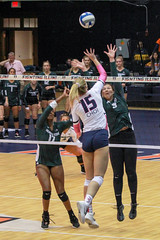 Swing against State (RPahre) Tags: msu michiganstate michiganstateuniversity universityofillinois champaign illinois volleyball b1g bigten megancooney nayagros maddiehaggerty copyrighted robertpahrephotography donotusewithoutpermission