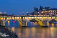 Blue Hour over Paris (Lonely Soul Design) Tags: paris pont des arts sunset nightshot long expo longexposure eiffel tower bridge seine france cityscape lights