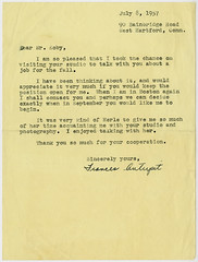 Letter from Frances Antupit to Paul Koby Re: Employment (Cambridge Historical Commission) Tags: cambridge cambridgema cambridgemass portraitphotographs portraitphotography portraits photographers correspondence letters smallbusiness