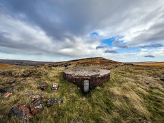 Marsden Moor - Vent for the Standedge Rail Tunnel (Craig Hannah) Tags: marsden marsdenmoor standedge standedgetunnels pennines pennine westyorkshire westriding yorkshire hill pulehill sky clouds landscape craighannah november 2018 canon photography photos autumn