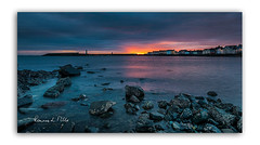 It Started With A Kiss (RonnieLMills 5 Million Views. Thank You All :)) Tags: sunrise early morning dawn sun up rising donaghadee harbor harbour lighthouse water rocks seafront reflections county down northern ireland wide angle landscape seascape photography itstartedwithakiss ronnielmills