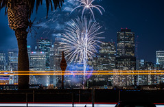 2018 fleet week fireworks 17 (pbo31) Tags: sanfrancisco california nikon d810 color city urban october 2018 boury pbo31 fall night black dark fireworks show fleetweek treasureisland lightstream motion traffic skyline ferrybuilding sutro hotel hyatt tower