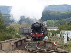 The Flying Scotsman arrives into Exeter (DGPhotography1999) Tags: steamtrain steamlocomotive mainlinesteam exeterstdavidsstation 60103 44871 dieseltrain dieselengine 47760 flyingscotsman