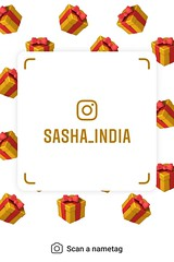 example of nametag for Instagram (Sasha India) Tags: instagram nametag instatag tag name sashaindia дизайн qrcode design 設計 디자인 التصميم σχέδιο डिज़ाइन வடிவமைப்பு desenhar projekt עיצוב desain gift
