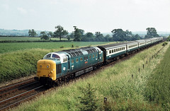 Peasecliffe Tunnel 55018 Kings X to York June 80 J6987 (DavidWF2009) Tags: ecml peasecliffetunnel class55 deltic