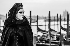 Venice (thiery74) Tags: bw venice blackandwhite carnival cosplay costume mask people