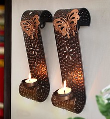 Wall Sconces With Tea Light Candle (mywowstuff) Tags: gifts gift ideas gadgets geeky products men women family home office