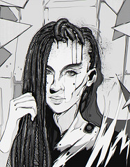 Inktober 2018 - 16 - Angular (freeflowart) Tags: art daily drawing painting illustration portrait study sketch creative