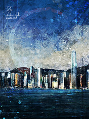 Hong Kong (http://www.agatti.com) Tags: south asia china sea hong kong hongkong island kowloon islandside victoria harbour new old architecture building monument hills landmark landscape scape view panorma scene scenery vista city town urban outdoor sky skyline skycrapers towers wonderland culture tourism travel visitors digital painting texture layers impression surreal realism splatter stains spots splash drip dripping brush stroke grunge glimpse colorful halo vertical