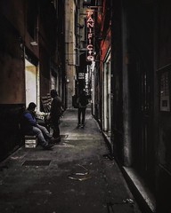 """Survive Life"" (giannipaoloziliani) Tags: shadow hardstreet urbanexploration life lifelive raw strange hard shops reallife people buio streettrash view flickr vicolidigenova vicoli alleysofgenova alleys unesco periphery suburbs street streetlife obscure obscurity darkness dark streetphotography capturestreet capture italy italia liguria caruggi panificio neon colore colors genova genoa photooftheday nikonphotography nikoncamera nikon"