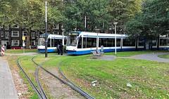 3x3 (1) (Peter ( phonepics only) Eijkman) Tags: amsterdam city combino gvb tram transport trams tramtracks trolley detour omleiding rail rails strassenbahn streetcars nederland netherlands nederlandse noordholland holland