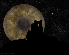 Second Sight - Fall Equinox 2018 - by Edward P. Morgan III (Rocks In Her Head) Tags: moon tower ruins hovenweep strongholdhouse eye silhouette imaginings imaginingsillustrations noddfaimaginings storybyedwardpmorganiii