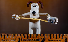 Measure twice, Cut once HMM (Dotsy McCurly) Tags: macromondays measurement hmm happymacromonday gromit wallaceandgromit fun funny cute dog measure measuringtape old varnished wood ruler canoneos80d efs35mmf28macroisstm dark light shadows
