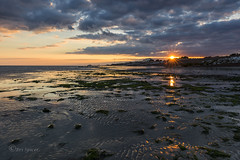 A brief show (Through Bri`s Lens) Tags: sussex worthing worthingpier lowtide lowtidereflection sunset seaweed weed shallow water sea brianspicer canon5dmk3 canon1635f4