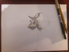 Inktober 2018  Attempt#1  Metal Mulisha Original by Mike Strachan (OpalStream) Tags: 1 metal mulisha inktober 2018 sketch illustration contest pencil tombow abt n79 code color