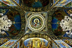 The Church of the Saviour on Spilled Blood: Ceiling Detail (Raphael de Kadt) Tags: russia stpetersburg church churchofthesaviouronspilledblood interior symmetry fujifimxt2 fujinonxf16mmwr