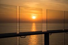 Sunrise or Sunset? (johnshlau) Tags: sky sunrise sunset sailing athens greece naples italy travel celebrityreflection mediterraneancruise mediterranean cruise ship sea glass transparent transparency seethrough