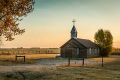Oregon Trail Memorial Episcopal Church (Susan.Johnston) Tags: eden wyoming church morning roadtrip sunrise oregontrailmemorialepiscopalchurch hamlet architecture historical rural