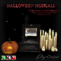 ღ ♡  Halloween Musical - Come Little Children by Page Creations™ ♡ ღ (Raven Page) Tags: halloween props decor mesh spooky scary fog pumpkins musical gothic goth