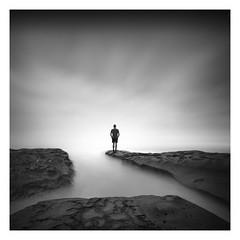 Together (Marco Maljaars) Tags: longexposure mood marcomaljaars lajolla beach rocks california self selfie monochrome le blackandwhite sky silhouette bnw lee filter canon 70d seascape waterscape toning