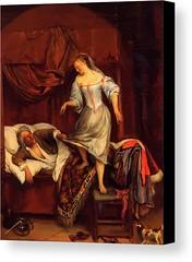 Couple In A Bedroom 1670 Canvas Print / Canvas Art by Steen Jan (Pixbreak Art) Tags: artwork painting paint frame art design