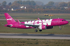 WOW Air (ab-planepictures) Tags: dus eddl flugzeug flughafen düsseldorf airline aircraft airport plane planespotting aviation wow air airbus a320 neo