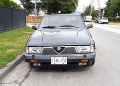 1989 Alfa Romeo Milano 3.0 V6 Verde (Foden Alpha) Tags: alfaromeo milano 30 v6 verde 118jca