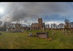 The one certainty... (Dark side of the lens) Tags: cinematic movie scotland angus lightroom photoshop c canon carl zeiss fern graves church
