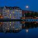Mond über der Trave (Pippilotta aus dem Tal) Tags: sel1635z