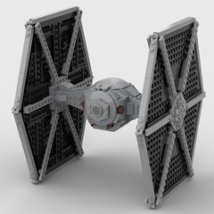 lego tie fighter moc (KaijuWorld) Tags: lego moc custom tie fighter star wars ship space ldd rebel builder