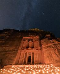 The Treasury - Petra, Jordan (Nomadic Vision Photography) Tags: jordan petra thetreasury stars candlelight historic unesco maangovernorate jo