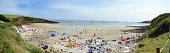 Bank Holiday Beach (Worthing Wanderer) Tags: southwestcoastpath cornwall cornwallcoast coast cloudy sunny river path summer august place roseland pendower