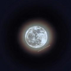 Moon with a light ring (tomquah (busy period)) Tags: luna moon halo tomquah canoneos5d ef100400mm canonsg