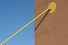 Play of lines with a yellow bar (Jan van der Wolf) Tags: map185318v bar gevel gebouw architecture architectuur stang shadow lijnen lijnenspel interplayoflines playoflines yellow geel schaduw