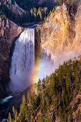 Perfect Moment (Larry Marotta) Tags: lowerfalls yellowstonenp rainbow 5dmarkiv mist yellowstonenps grandcanyonofyellowstone canon yellowstonenationalpark wyoming unitedstates us