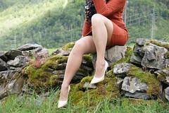 Indian Summer (feldhaze) Tags: nylons stockings highheels nature outdoor green sensual