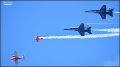 The Blue Angels & Team Oracle Fleet Week 2018 (billypoonphotos) Tags: fleet week navy blue angels jets f18 hornet flying united states squadron bay area billypoon billypoonphotos california media news nikon photo photographer photography picture san francisco photos oracle challenger sean tucker outdoor border 2018 d5500 nikkor 55300mm 55300 mm airplane sky aircraft jet trail people