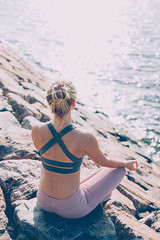 Yoga girl (Juha Helosuo) Tags: yoga namaste girl beautiful photography portrait people blond blondehair canon eos 5d mark iv ef50mm f14 usm sport canoneos5dmarkiv ef50mmf14usm sea ocean nature autumn vibes good life summer color fit love relax