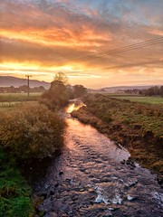 Nicer than usual (tubblesnap) Tags: motorola silsden steeton sunrise morning early snapseed yorkshire scenery landscape commute aire valley airedale river
