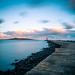 Poolbeg lighthouse at sunset - Dublin, Ireland - Seascape photography