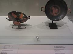 Greek Bowls, music classes!   CaixaForum, Madrid, June 2018 (d.kevan) Tags: exhibitions caixaforum ancientinstruments displaycabinets june2018 madrid spain exhibits greek ceramic dishes musicclasses