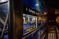 A starry, starry night (mangopearuk) Tags: uk unitedkingdom england hampshire southampton bus buses publictransport transit publictransit citycentre solent doubledecker blue