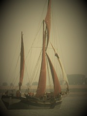 Thames Barge (Julie Rutherford1 ( off/on )) Tags: thames barge julie rutherford river colne estuary wivenhoe sail essex wind sails rigging sailing wood