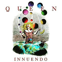 Innuendo Álbum de estudio de Queen Publicación 4 de febrero de 1991  (Bandera de Reino Unido Reino Unido) Grabación Marzo 1989 a noviembre de 1990 Innuendo (Insinuación) es el decimotercer álbum de la banda de rock británica Queen, publicado en febrero de (Martin Tacan) Tags: instagramapp square squareformat iphoneography uploaded:by=instagram juno