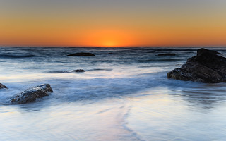 The Glow Begins - Sunrise Seascape