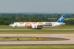 18-3933 (George Hamlin) Tags: virginia chantilly washington dulles international airport iad ana all nippon airways airline ja899a boeing 777300er aircraft airliner airplane widebody twin aisle runway 19c taxiway trees hills mountains photo decor george hamlin photography