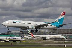 LX-LGU | Luxair | Boeing B737-8C9(SL) | CN 41047 | Built 2012 | DUB/EIDW 18/08/2018 (Mick Planespotter) Tags: aircraft airport 2018 dublinairport collinstown nik sharpenerpro3 lxlgu luxair boeing b7378c9sl 41047 2012 dub eidw 18082018 b737 flight