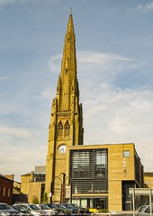 Halifax Library and Square Church Spire (Photographs by Colin.) Tags: spire tower industrial museum church chapel square library halifax calderdale yorkshire roof